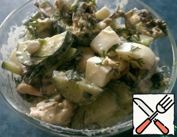 Salad with Mussels and Cucumber Recipe