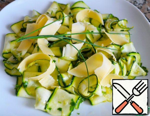 Zucchini Salad with Lemon and Thyme Recipe