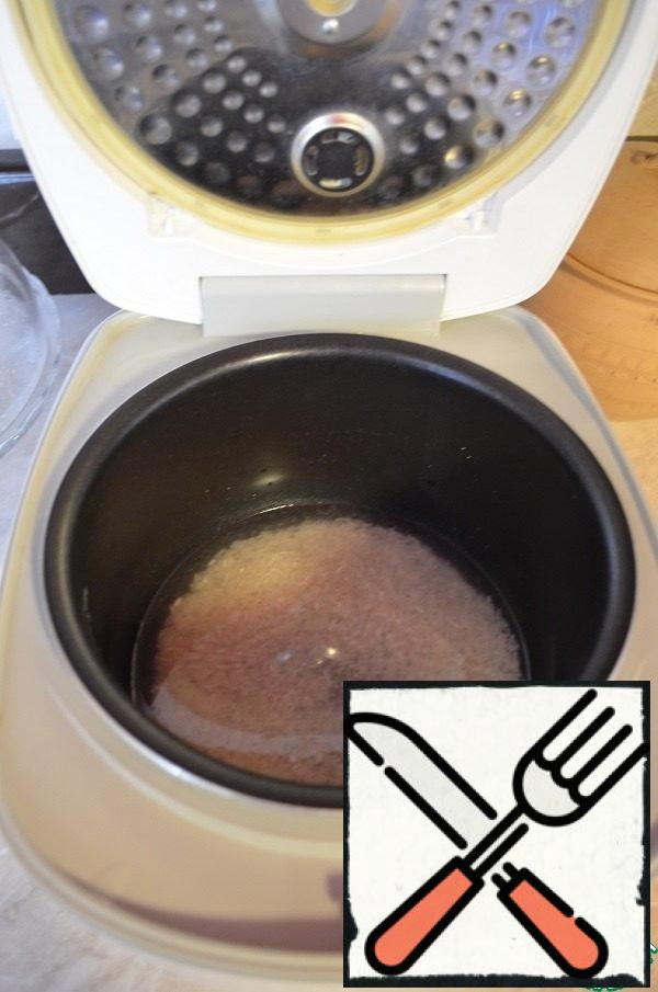 "Wash the rice well. Boil it in a convenient way for You, I boil it in a slow cooker on the ""Hard rice"" mode."