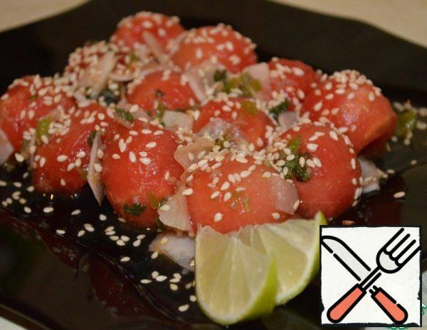 Watermelon Salad Asian Style Recipe