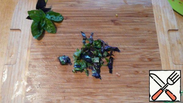 Add the chopped Basil.