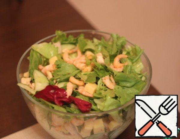 Diet Salad with Shrimp and Cashew Nuts Recipe