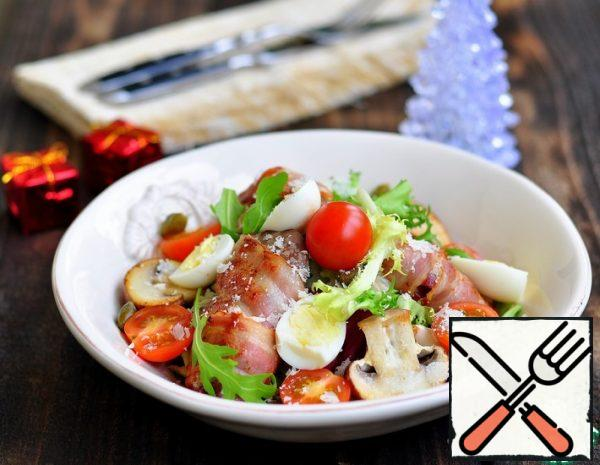 Chicken Liver Salad with Vegetables Recipe
