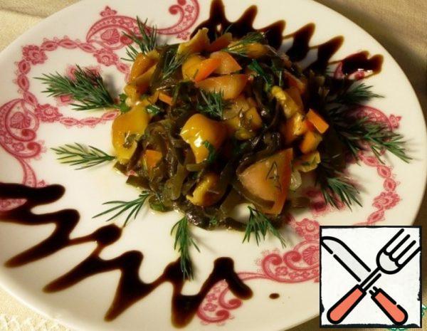 Salad with Seaweed and Mushrooms Recipe