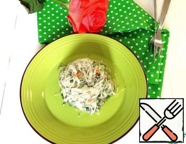 Salad with Sauerkraut and Celery Recipe
