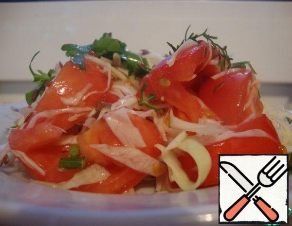 Cabbage and Tomato Salad Recipe