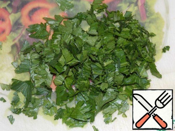 Chop the parsley.