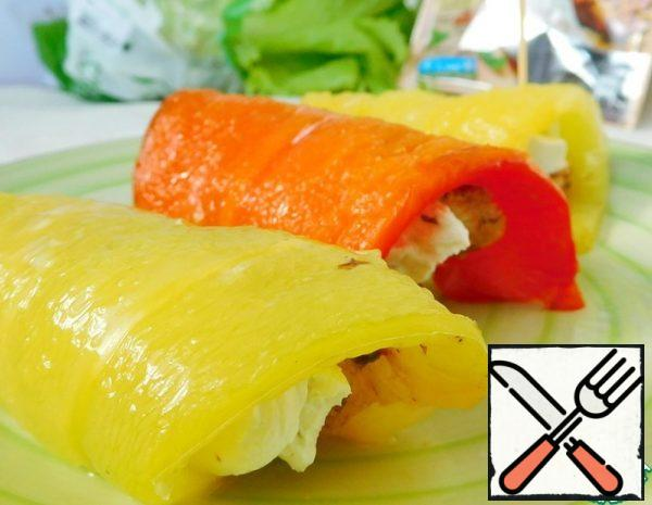 Rolls of grilled Peppers Recipe