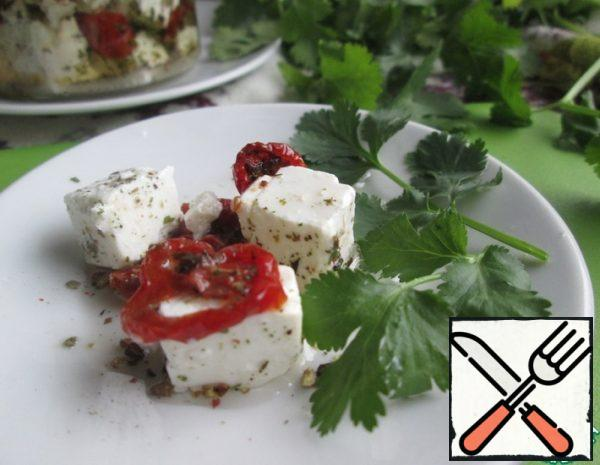 Feta Cheese with sun-dried Tomatoes Recipe