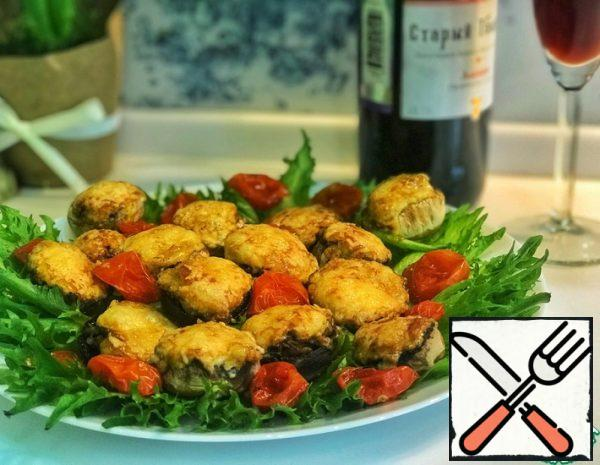 Stuffed Mushrooms baked with Parmesan Cheese Recipe