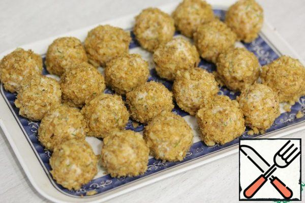 Put them on a dish and put them in the refrigerator for a couple of hours or longer.