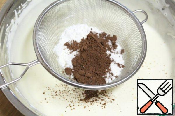Sift the flour and cocoa powder into a bowl.