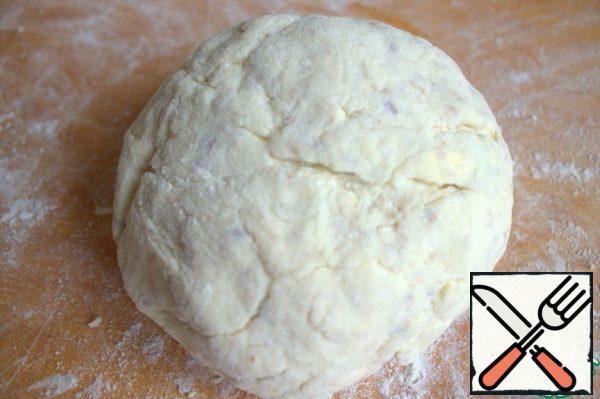 Knead a pliable dough.