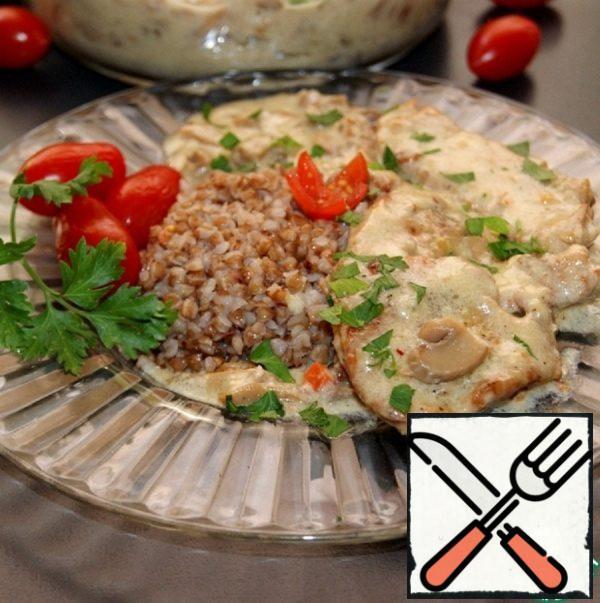 Loin in Creamy Mushroom Sauce Recipe