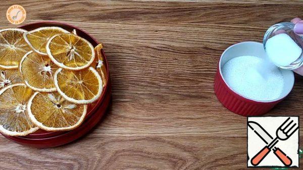 Mix sugar with vanilla sugar.