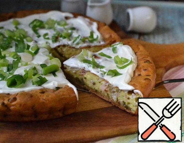 Cheesecake with Ham and Green Onions Recipe