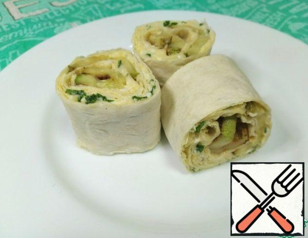 Appetizer with Zucchini in Pita Bread Recipe