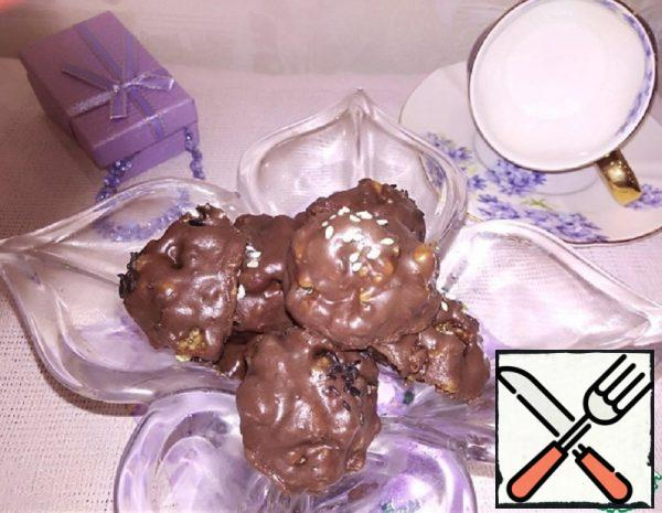 Walnut with Dried Fruit in Chocolate Recipe