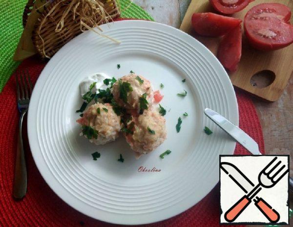 Diet Chicken baked Meatballs Recipe