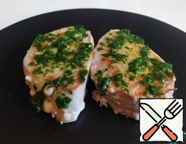 Tuna Steak with Garlic Sauce Recipe