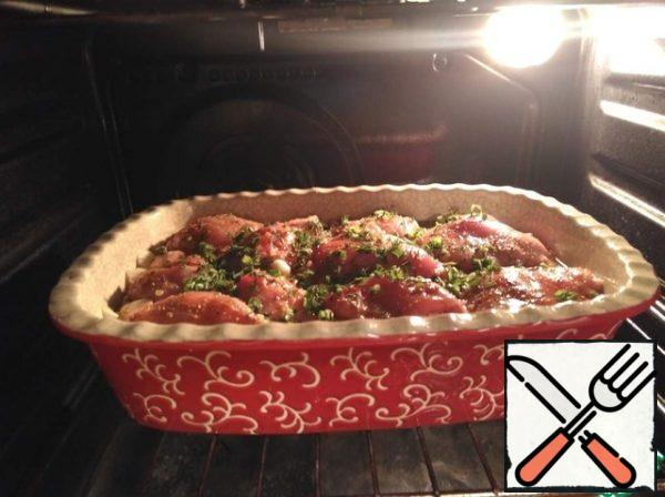 bake in a preheated oven to 180C for about 30 minutes +, -.