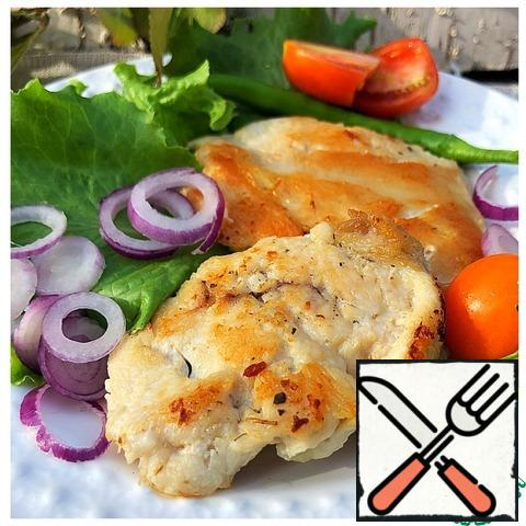 Serve chops with herbs and vegetables. Bon Appetit!!!