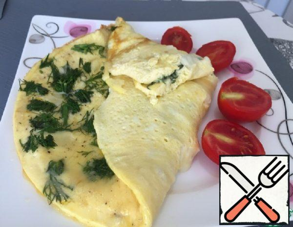 Omelette with Cheese and Milk Recipe