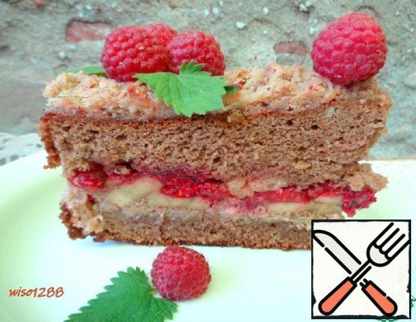 Banana-Raspberry Cake Recipe