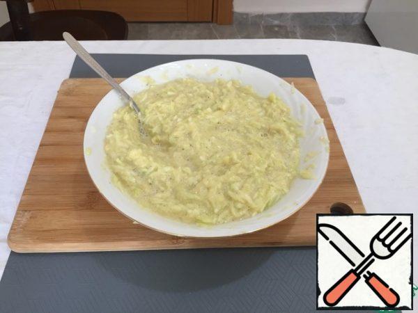 Mix the dough thoroughly.