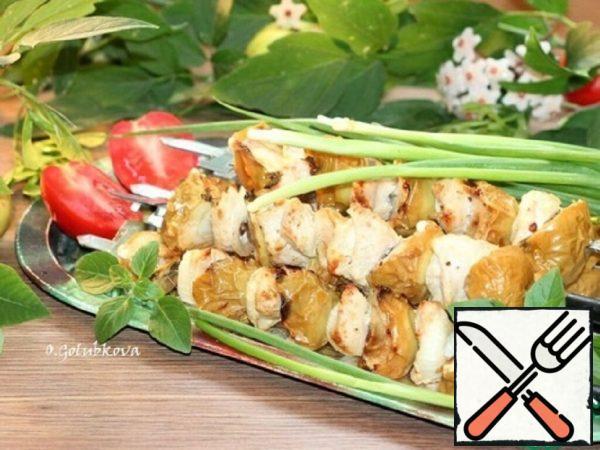 Turkey Skewers with Baked Apples Recipe