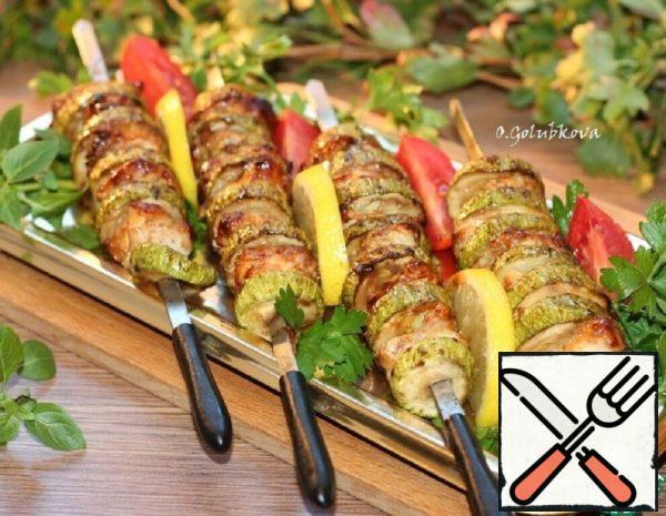 Turkey Skewers in Barbecue Sauce Recipe