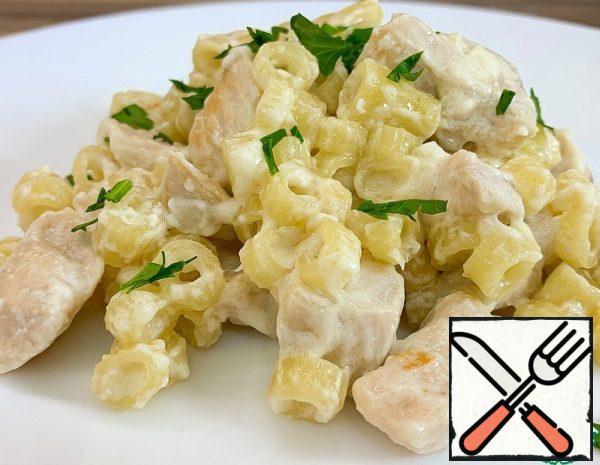 Creamy Pasta with Chicken Fillet Recipe