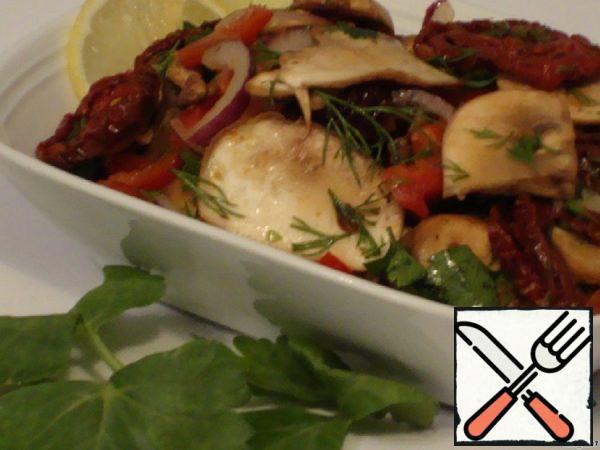 Champignon Salad with sun-dried Tomatoes Recipe