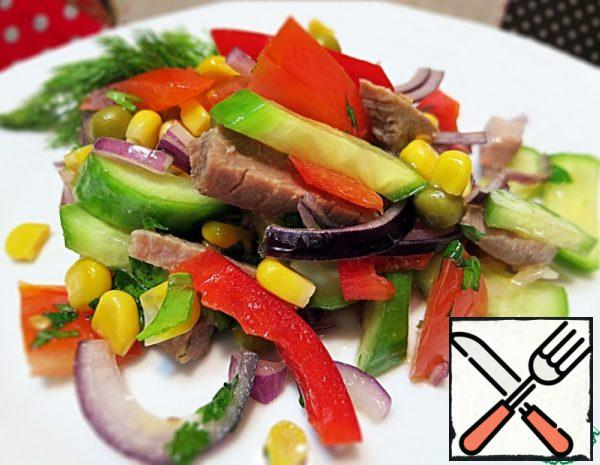 Salad with Beef (veal) and Vegetables Recipe