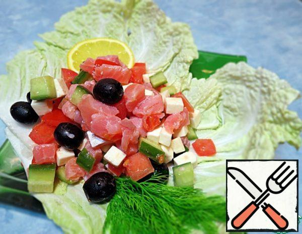 Salad with salted Salmon Recipe