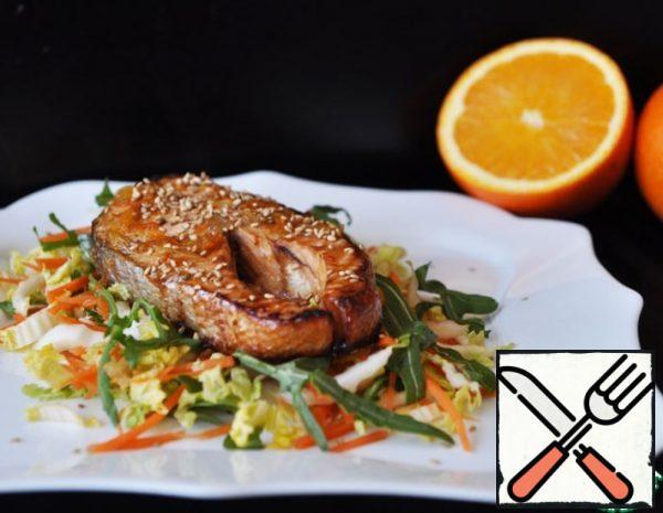 Warm Salmon Salad with Orange Sauce Recipe