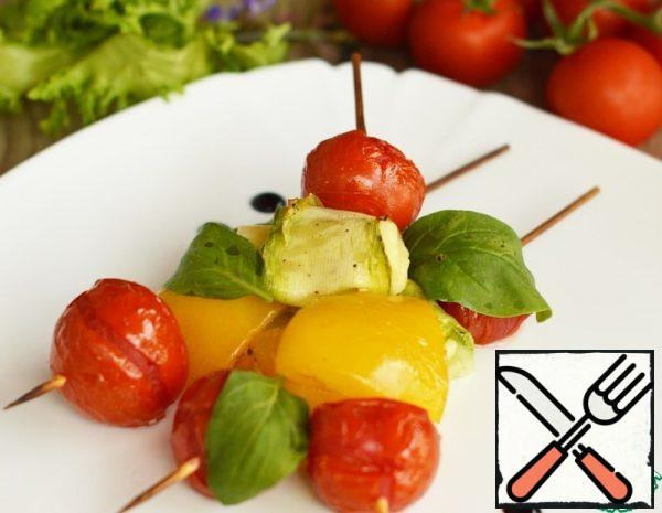 Vegetables on Skewers with Cheese Recipe
