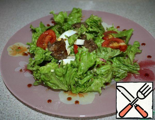 Chicken Liver Salad with Sweet and Sour Sauce Recipe