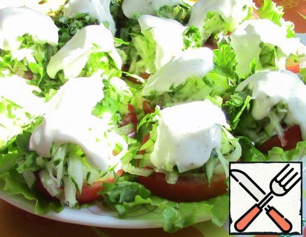 Tomato and Cucumber Snack Salad Recipe