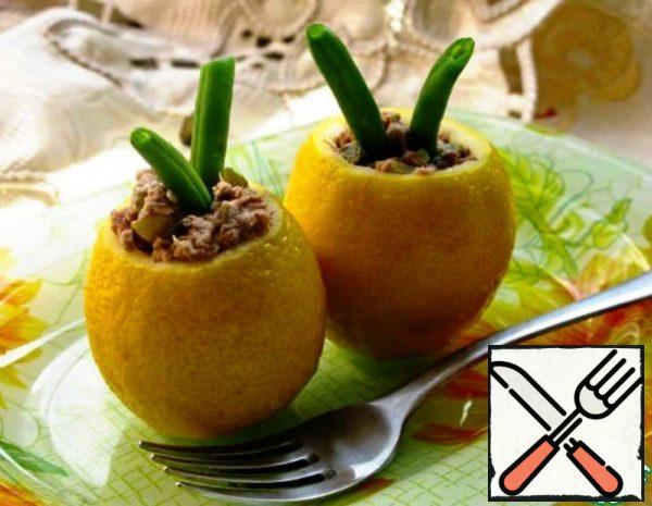 Lemons with Tuna Salad Recipe