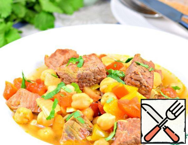 Beef with Chickpeas and Vegetables Recipe