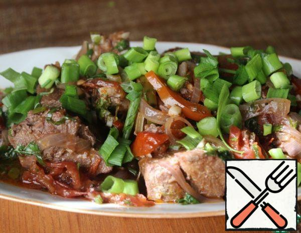 Meat stewed in Wine with Vegetables Recipe