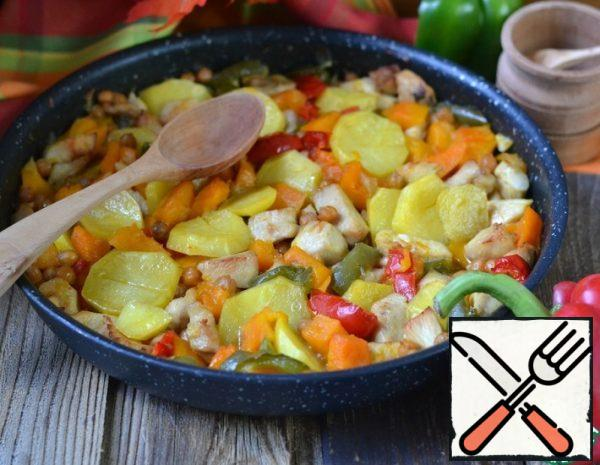 Vegetable stew with Chicken and Chickpeas Recipe