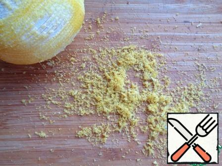 Remove the zest from the lemon.