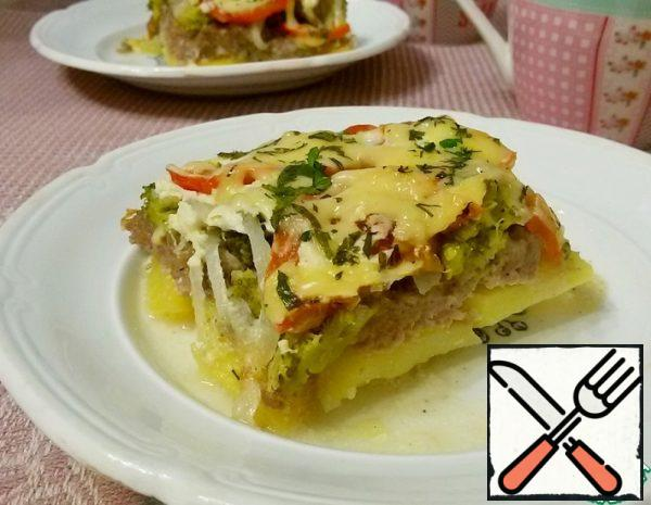 Casserole with Minced Meat and Vegetables Recipe