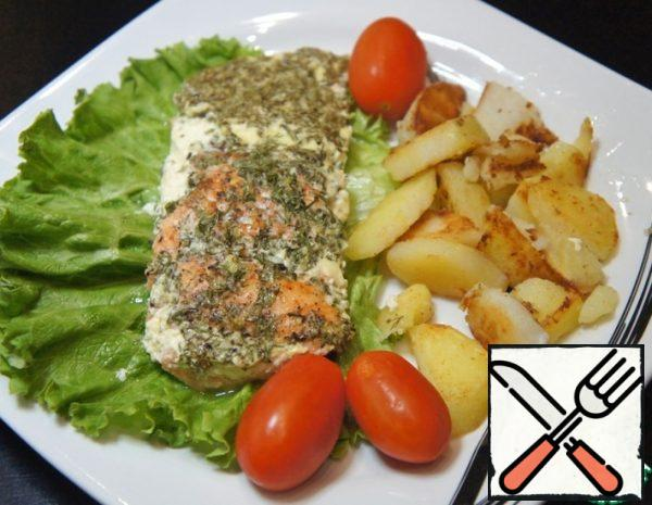 Trout baked with Herbs Recipe