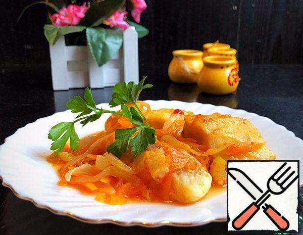 Tender Fish Fillet with Vegetables Recipe