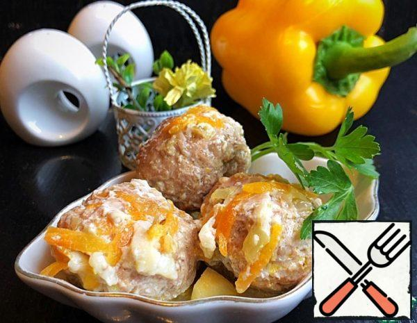 Meatballs with Vegetables and Mozzarella Recipe