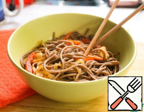 Buckwheat Noodles with Vegetables and Chicken Recipe