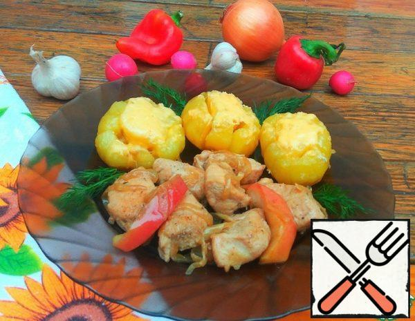 Stewed Chicken Fillet with Apples Recipe